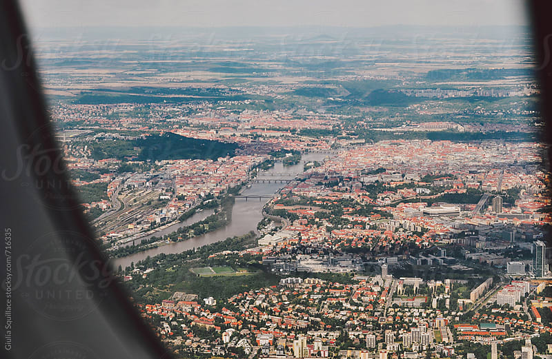 City view from the plane by Giulia Squillace for Stocksy United