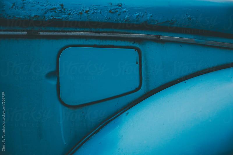 Old blue car detail by Dimitrije Tanaskovic for Stocksy United