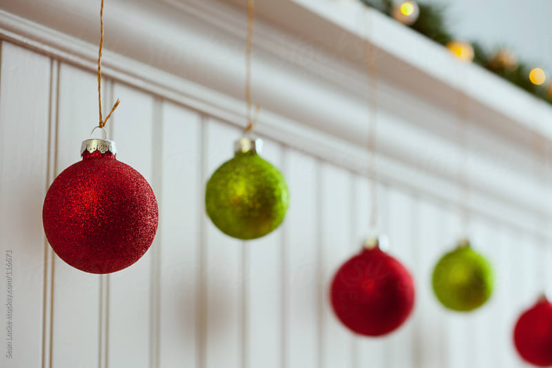 Holidays: Red and Green Christmas Ornaments by Sean Locke for Stocksy United