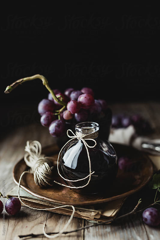 Grape with wine by Tatjana Ristanic for Stocksy United