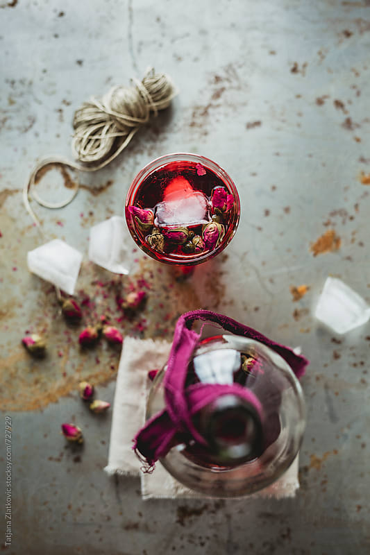 Iced rose bud tea by Tatjana Zlatkovic for Stocksy United