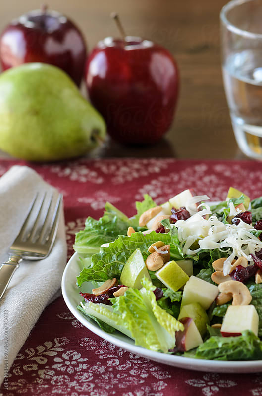 Green Salad with Apples and Pears by Julie Rideout for Stocksy United