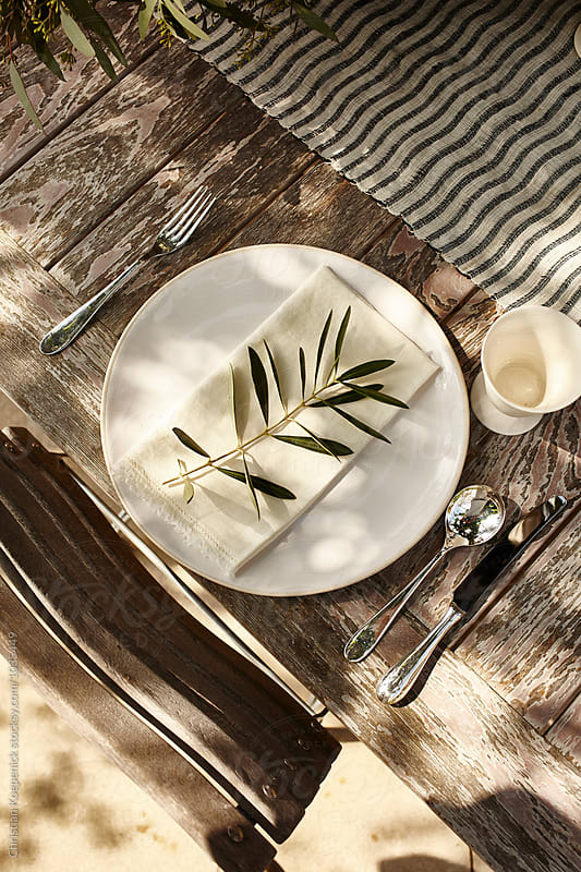 Rustic Table Setting by Christian Koepenick for Stocksy United