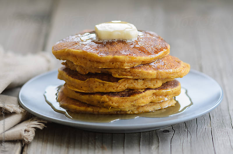Pumpkin Pancakes by Julie Rideout for Stocksy United