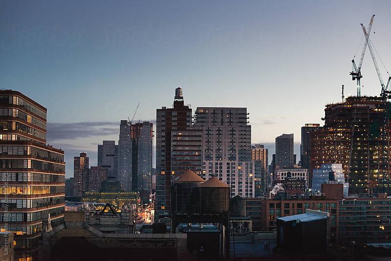 Sunrise over New York City by Lauren Naefe for Stocksy United