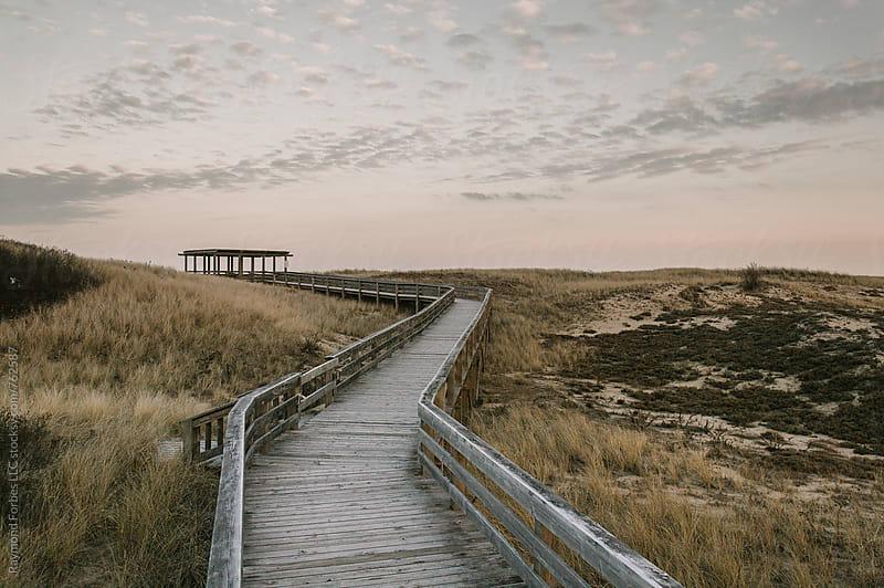 Salisbury Beach Boardwalk in Autumn by Raymond Forbes LLC for Stocksy United