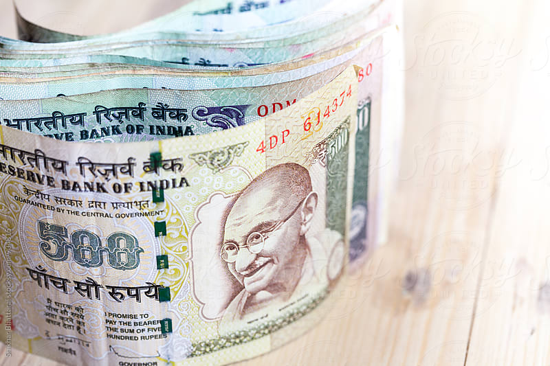 Close up of indian rupee. by Shikhar Bhattarai for Stocksy United