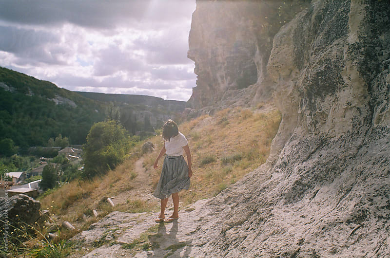 A film portrait of young woman in the mountain of Crimea by Anna Malgina for Stocksy United