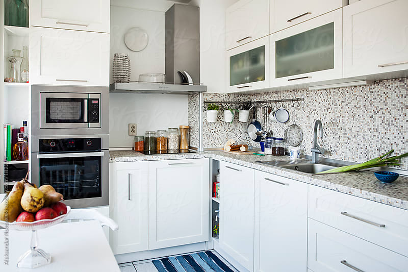 White Kitchen by Aleksandar Novoselski for Stocksy United