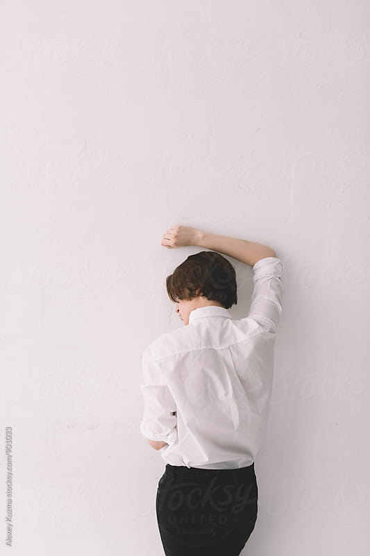 androgyne  from behind by Alexey Kuzma for Stocksy United