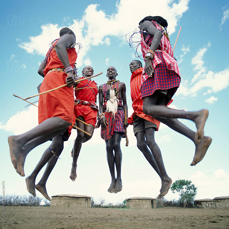 Maasai tribesmen. Maasai Mara. Kenya by Hugh Sitton for Stocksy United