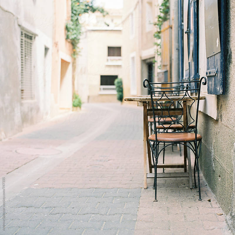 Chair in French Village by Andrew Spencer for Stocksy United