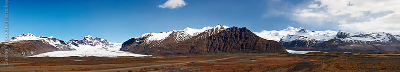 Icelandic glacier mountain landscape by Daxiao Productions for Stocksy United