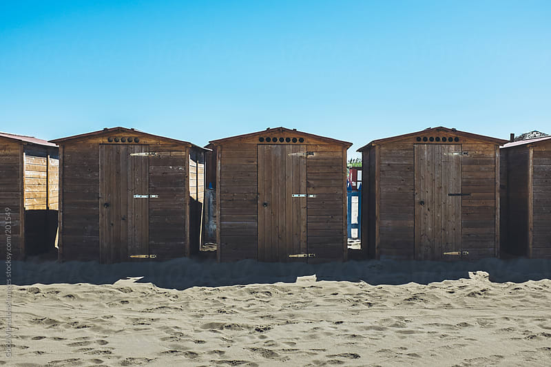 Beach huts by Good Vibrations Images for Stocksy United