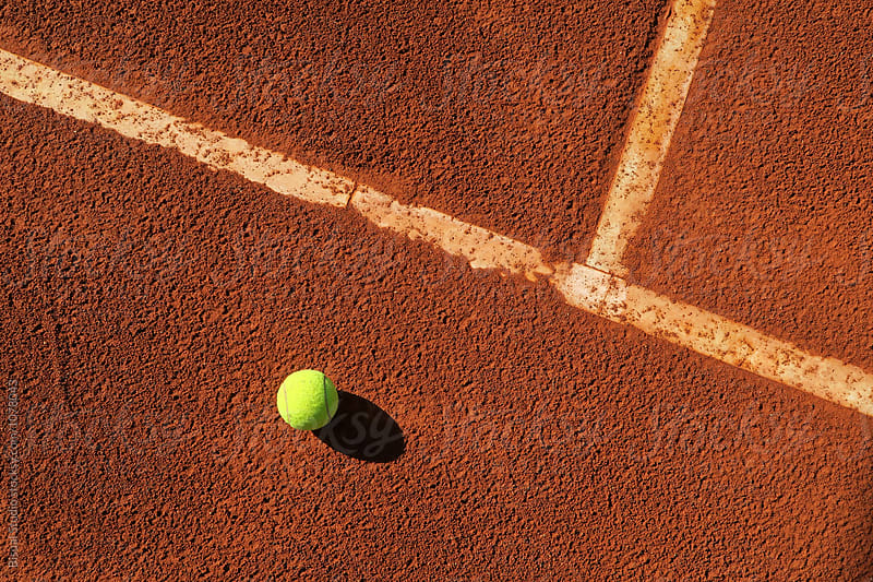 Detail of a clay court of tennis by Bisual Studio for Stocksy United