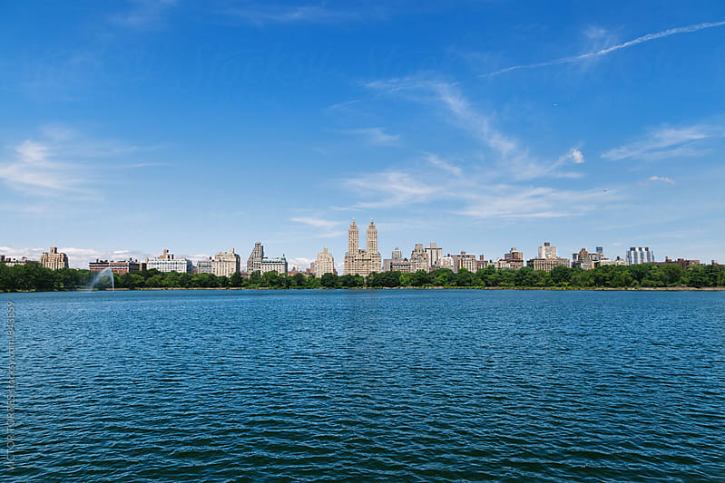 Jaqueline Kennedy Onassis Reservoir in Central Park, New York by VICTOR TORRES for Stocksy United