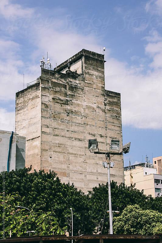 Old building facade in Rio de Janeiro, Brazil by Alejandro Moreno de Carlos for Stocksy United