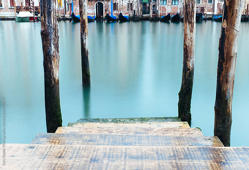 Venice Canal with Gondolas by Gary Radler Photography for Stocksy United