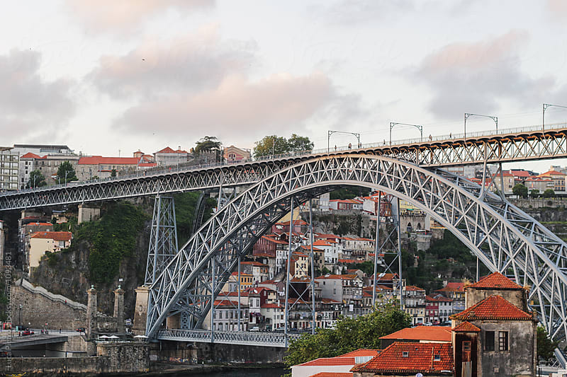 Dom Luís I Bridge, Porto, Portugal by Luca Pierro for Stocksy United