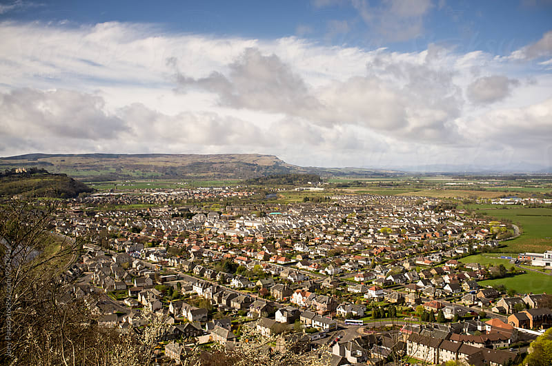 Overlooking the Village of Stirling, Scotland by Joey Pasco for Stocksy United