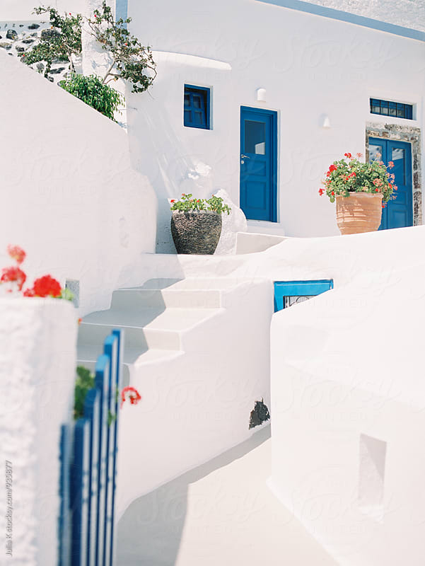Traditional building at Santorini, Greece by Julia Kaptelova for Stocksy United