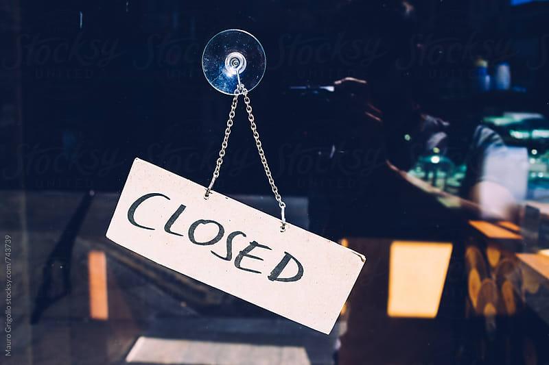 Closed sigh by Mauro Grigollo for Stocksy United