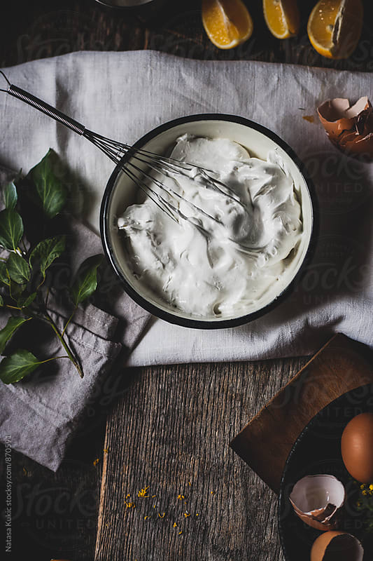 Then process of making meringue by Natasa Kukic for Stocksy United