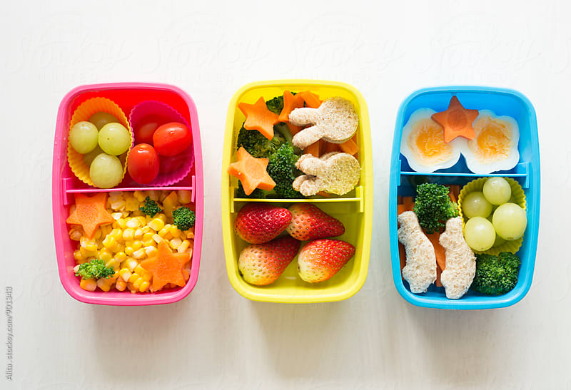 Healthy kids' lunchboxes by Alita Ong for Stocksy United