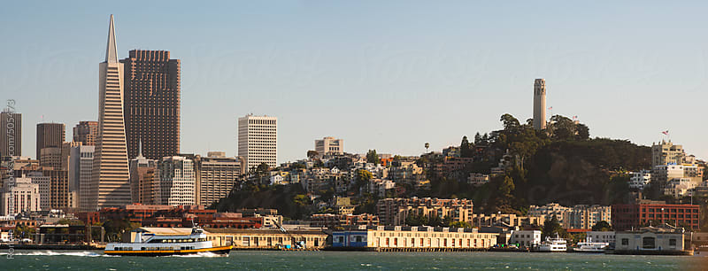 San Francisco Skyline From Water by Ronnie Comeau for Stocksy United