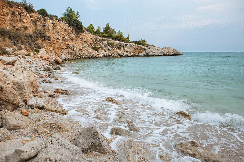 Rocky beach at Peloponnese,Greece by Alberto Bogo for Stocksy United