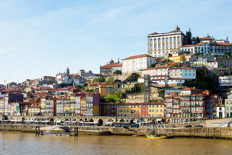 Views of the old town of Oporto from Dom Luis I Bridge by Bisual Studio for Stocksy United
