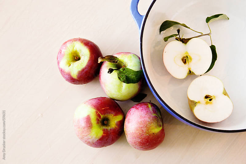 Fresh Apples and a Dutch Oven by Amy Drucker for Stocksy United