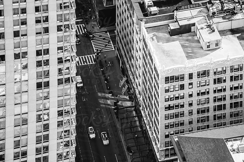 Overhead of a Manhattan Avenue. by BONNINSTUDIO for Stocksy United