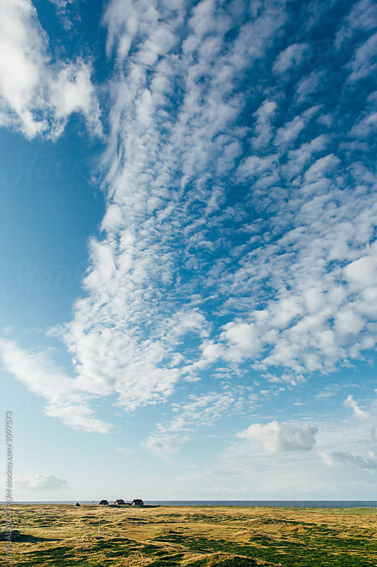 Cloudy Sky Over Typical North Sea Landscape on Sunny Morning (Sy by Julien L. Balmer for Stocksy United