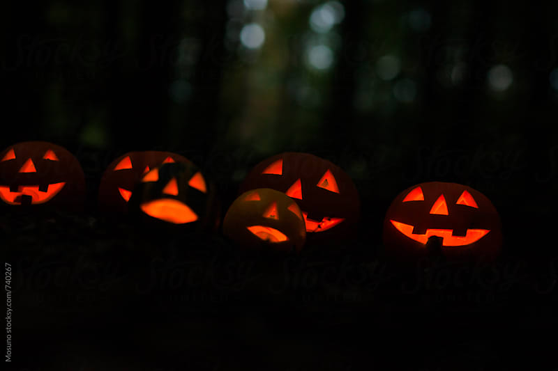 Scary Halloween Pumpkins by Mosuno for Stocksy United