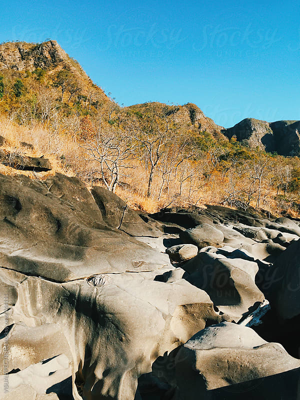 Rocky Riverbed in Chapada dos Veadeiros National Park (Brazil) by Julien L. Balmer for Stocksy United