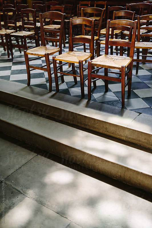 Chairs in the Abbey of Saint-Germain-des-Prés by Simon DesRochers for Stocksy United
