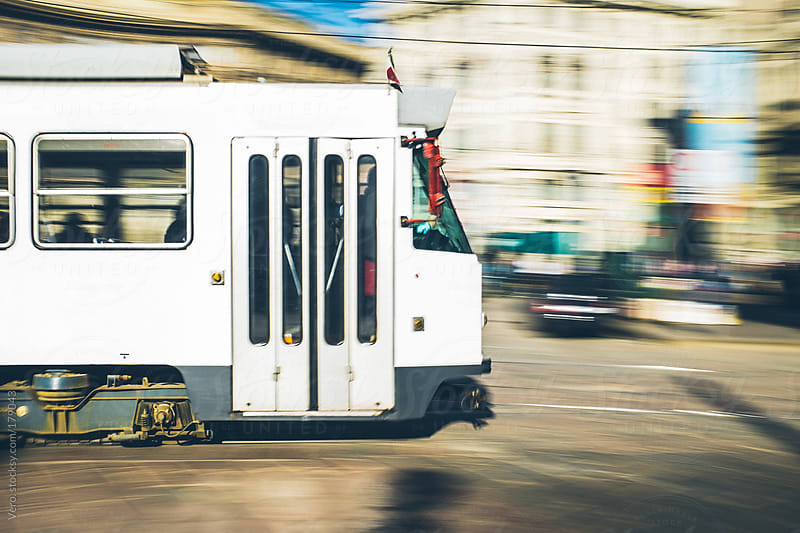 Tram in Milan by Good Vibrations Images for Stocksy United