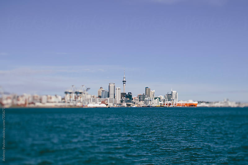 Auckland, New Zealand. Tilt-shift view by Andrey Pavlov for Stocksy United