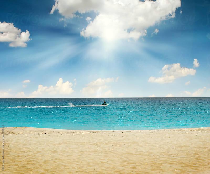 Beach setting by Nicholas Moore for Stocksy United