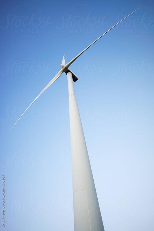 Windmill seen from below by ACALU Studio for Stocksy United