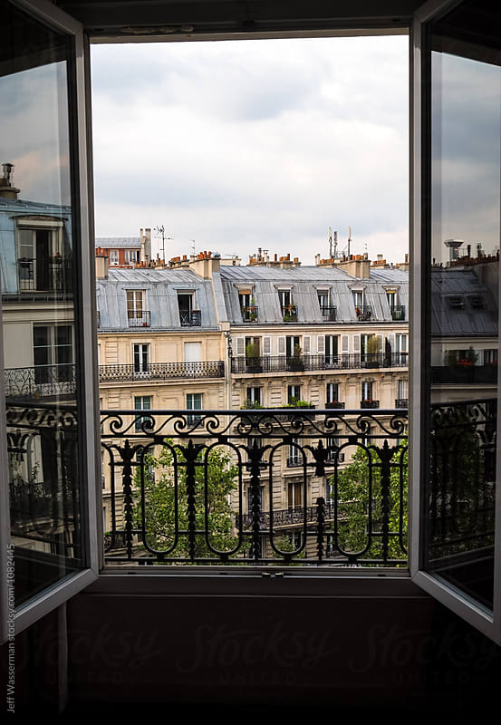 View of Apartment Buildings in Paris by Studio Six for Stocksy United