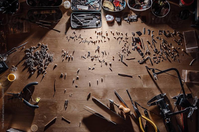 A jewellers desk by Tõnu Tunnel for Stocksy United