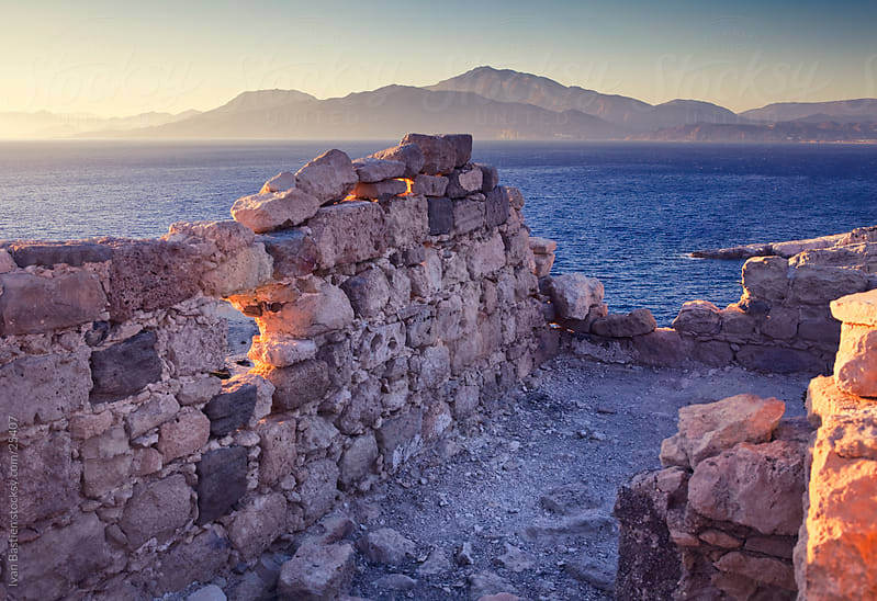 Ruins on the south coast of Crete by Ivan Bastien for Stocksy United