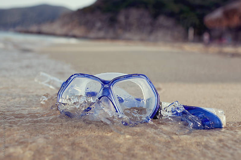Snorkel on the Beach by Ani Dimi for Stocksy United