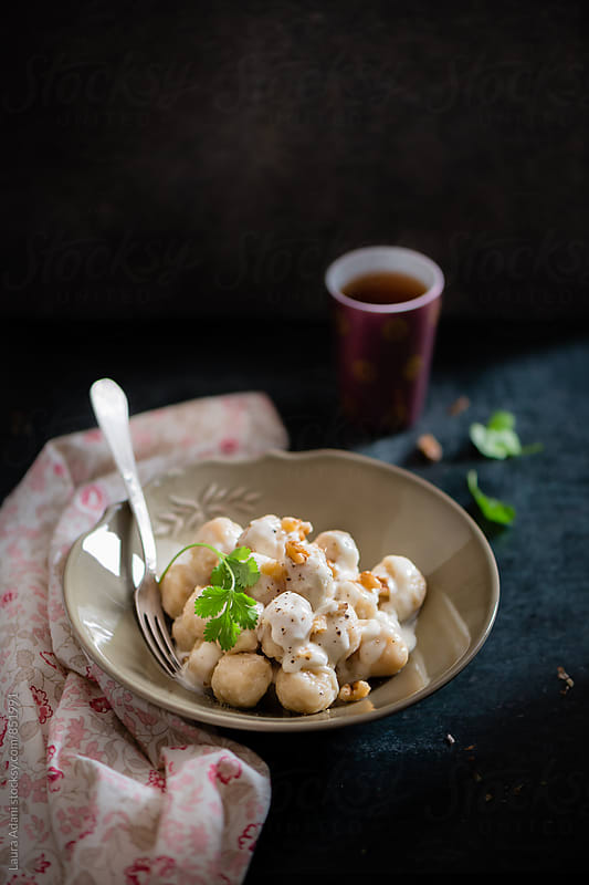 gnocchi with celeriac and potatoes by Laura Adani for Stocksy United
