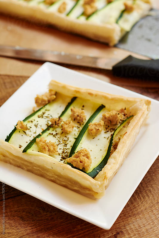 Zucchini Tart by Harald Walker for Stocksy United