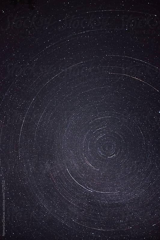 Orbital Trail of Stars in Infinite Universe by Nemanja Glumac for Stocksy United