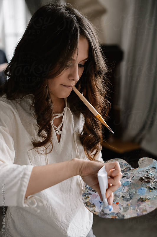 Artist working  by Milles Studio for Stocksy United