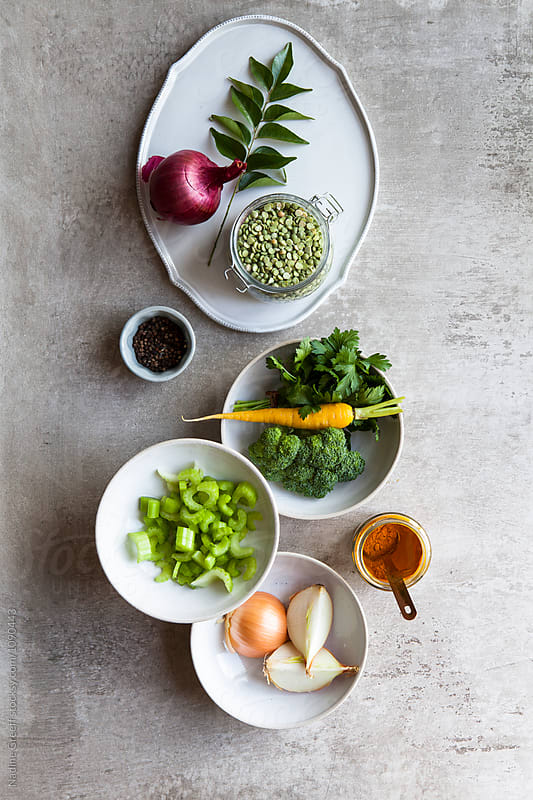 Healthy food ingredients by Nadine Greeff for Stocksy United